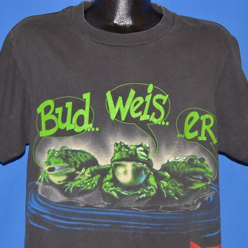 90s Budweiser Frogs Your Pad Or Mine t-shirt Large