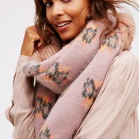 Free People Woodside Bloom Brushed Scarf