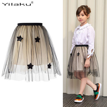 Tutu Skirts Girl Princess Party Dance Skirt Elastic Fluffy Pettiskirts Girls Tulle Skirts Kids Petticoat Girl Clothes CA353