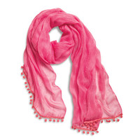 Sperry Top-Sider Women's Pareo Scarf with Pom-Pom Trim