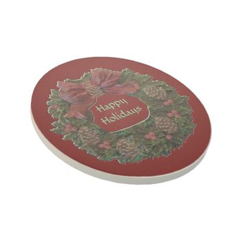 Green Waterloo Wreath Coaster