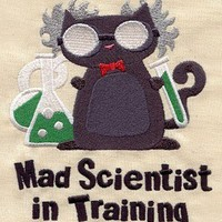 Kitty Mad Scientist in Training Baby Bib by MorningTempest on Etsy