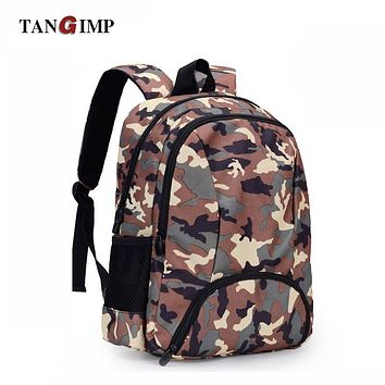 TANGIMP Camouflage Backpack Men Preppy Style Camo School Backpacks for Boys Girl Teenagers High School Middle School Bags Large