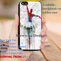 Ballet Spiderman iPhone 6s 6 6s+ 5c 5s Cases Samsung Galaxy s5 s6 Edge+ NOTE 5 4 3 #movie #disney #animated #marvel #comic dl9
