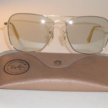 1960's 58mm BAUSCH & LOMB RAY BAN GREY TONE PHOTOCHROMIC CARAVAN SUNGLASSES
