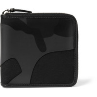 Valentino - Leather and Canvas Camouflage Wallet   MR PORTER