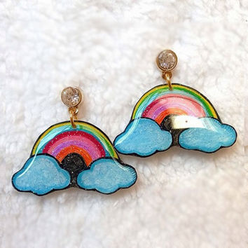 RAINBOW && CLOUD EARRING