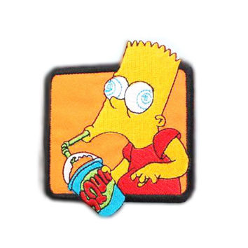"Bartholomew JoJo ""Bart"" Simpson patch Bart patch Cartoon patch Embroidered patch Iron on patch Sew on patch Cartoon Applique"