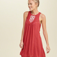 Embroidered Woven Dress