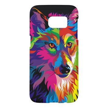 Colorful Wolf Samsung Galaxy S7 Case