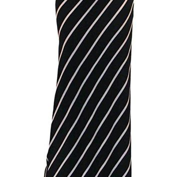 Dacie Black White Striped Long Maxi Skirt