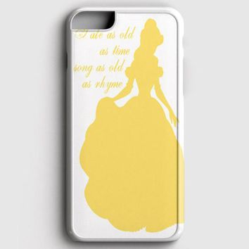 Belle Silhouette iPhone 8 Case