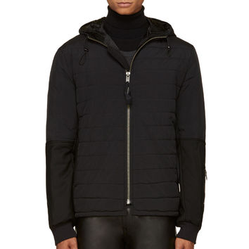 Silent By Damir Doma Black Quilted Drawstring Hood Jacket