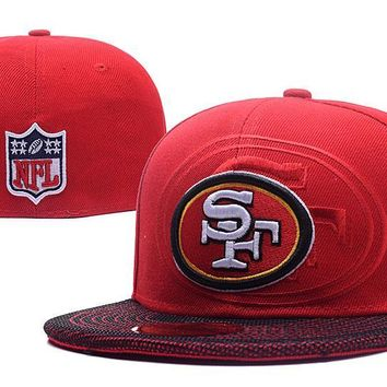 auguau San Francisco 49ers New Era 59FIFTY NFL Football Cap Red-White