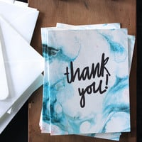 Thank You Marbled Card Boxed Set