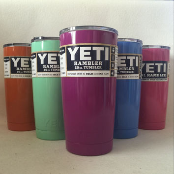 6 Color 20oz YETI Rambler Tumbler Cup Bilayer Vacuum Insulated Cup Tumbler Mug With YETI Logo Free Shipping