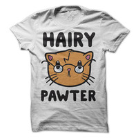 Hairy Pawter Cat Harry Potter Funny T-Shirt Tee. Free Domestic Shipping