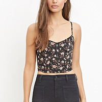 Floral Print Cropped Cami