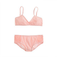 Girls' smocked seersucker bikini set - 40% Off Swim - Girl's 7 Days of Summer - J.Crew
