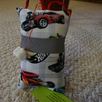 Tooth Fairy Pillow with tooth holder: MatchBox Cars