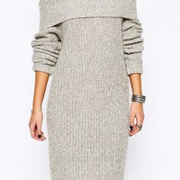 Fashion Union   Fashion Union Knitted Off Shoulder Sweater Dress at ASOS