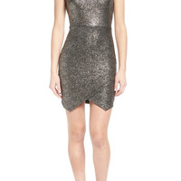 Foil Knit Body-Con Dress