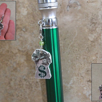 Money Mod charm - Money Tank Charm - Money Vapor Charm - Money Vape Charm - Money Ecig charm - Bag of Money