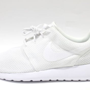 Nike Men's Roshe One Triple White Running Shoes 511881 112
