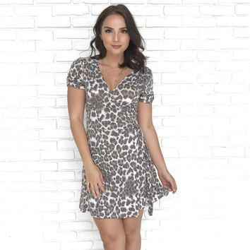 Nocturnal Animal Leopard Wrap Dress