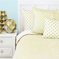Metallic Gold Chevron Pillow Sham
