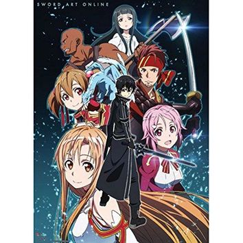 Great Eastern Entertainment Sword Art Online Group Shot Wall Scroll, 33 by 44-Inch