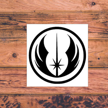 Star Wars Jedi Inspired Decal | Star Wars Silhouette | Star Wars Trilogy Decal | Star Wars Logo | Nerdy Decal | Star Wars Nerd | Comic | 359