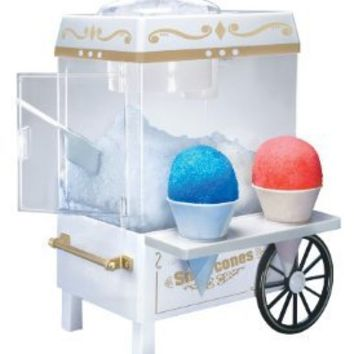 Nostalgia SCM502 Vintage Collection Snow Cone Maker & Shaved Ice Storage