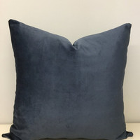 Smokey Grey Velvet Pillow Cushion Gray Velvet Throw Pillows Grey Gray Pillow Velvet Pillow Gray Couch Cushion Covers Grey Sofa Throw Pillows