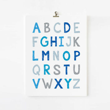 Alphabet Poster and Numbers - Wall art for boys - ABC and 123 - Buy 2 and Save