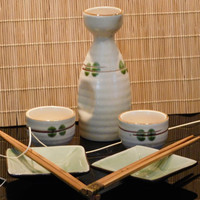 Sake Set Japanese Pottery Appetizer 7 Pieces, Japanese  ... Great Special Night So Fun & Romantic!!! Specially Gift Boxed