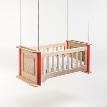 "hanging cradle ""swing"" - hardwood hanging cradle"