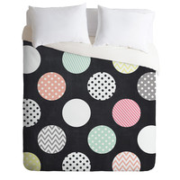 Mary Beth Freet Happy Dots Duvet Cover
