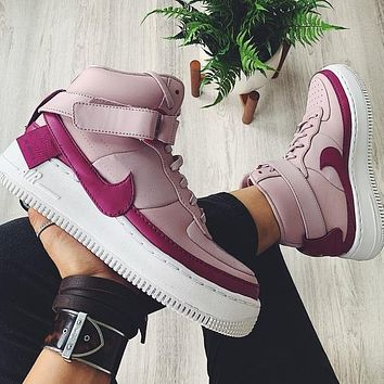 Nike aif1  High Tops Light Purple Women Basketball Shoes Contrast Sneakers