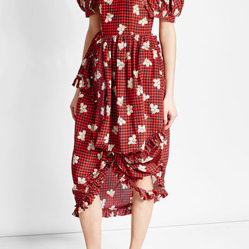 Printed Silk Dress - Simone Rocha | WOMEN | US STYLEBOP.COM