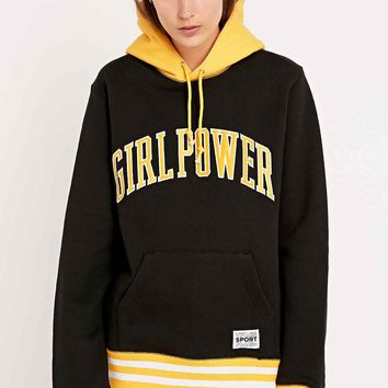 VFiles Girl Power Hoodie in Black and Yellow - Urban Outfitters