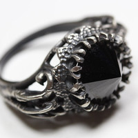 belonging to the darkness. sterling silver & black cz