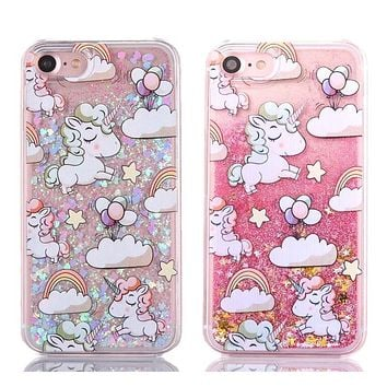 Unicorns and glitter iPhone case