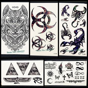 Black Indian Totem Temporary Tattoo Blade Men Body ARt Painting Tattoo Stickers PYF-163 Fake Flash Tattoo Kids ARm Shoulder Hand