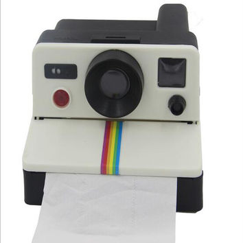 Creative 80s Style Cute Retro Polaroid Camera Shape Inspired Toilet Paper Holder/Toilet Roll Box Tissue Dispenser#S399