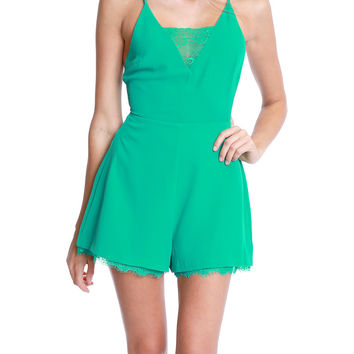 Where You'll Find Me Romper - Green