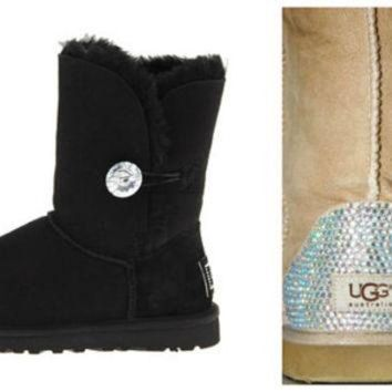 DCCK8X2 Swarovski Crystal Embellished Bailey Bling Uggs - Winter / Holiday Bling UGGs 2013