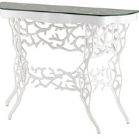 Corail Console Table in White design by Currey & Company - Default