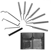 The Lock Doctor Lock Picking Set with Leather Wallet Carry Case 11 Piece Set