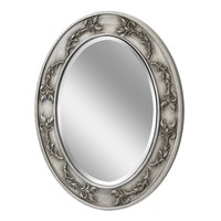 Classic Scroll Oval Antique Nickel Wall Mirror (1051) - Illuminada
